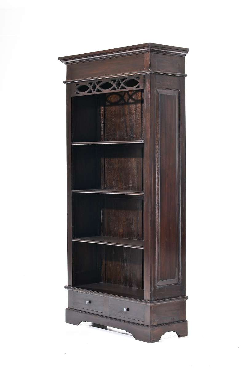 b cherschrank erica dunkelbraun kolonialstil aktenschrank mahagoni schrank neu ebay. Black Bedroom Furniture Sets. Home Design Ideas