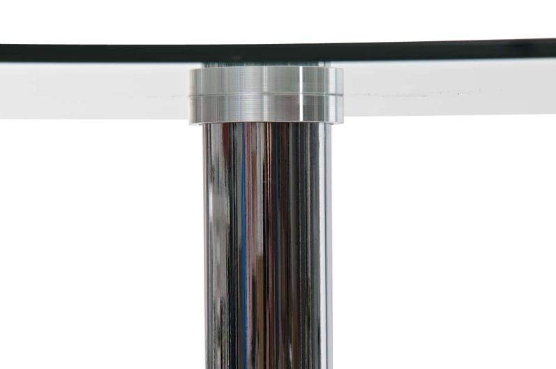 bistro glastisch 105cm chrom stehtisch rund bartisch. Black Bedroom Furniture Sets. Home Design Ideas