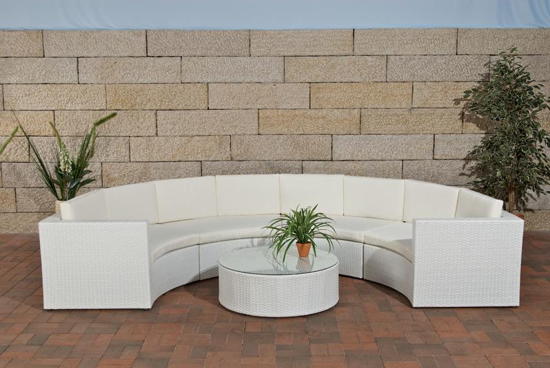 Balkonmobel Holz Blau :  gartenmobel lounge liege rattan set quadro Polyrattan möbel