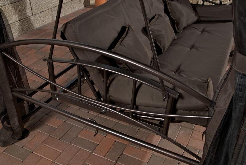 b ware hollywoodschaukel kenia in braun gartenschaukel. Black Bedroom Furniture Sets. Home Design Ideas