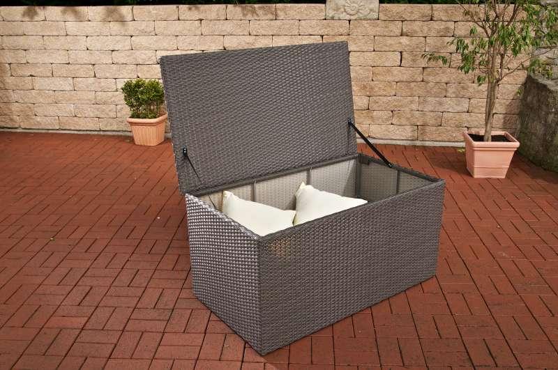 Jago Gartenmobel Erfahrung : Details zu Auflagenbox L grau Polyrattan Aufbewahrungst ruhe Kissenbox