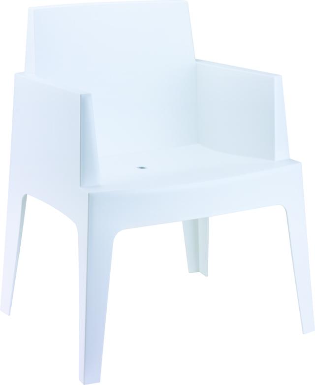Design Stuhl BOX wei u00df Gartenstuhl Besucherstuhl Esszimmerstuhl NEU