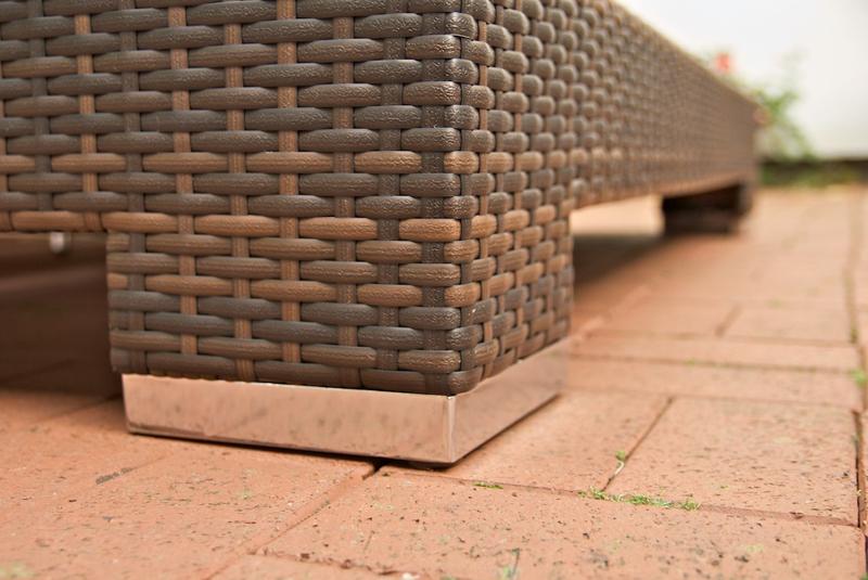 sonnenliege sunshine in braun aus polyrattan f r 2 personen neu ebay. Black Bedroom Furniture Sets. Home Design Ideas