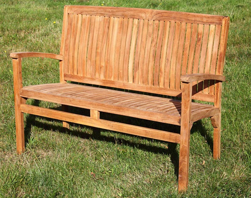 teak gartenbank 2 sitzer sitzbank parkbank neu teakbank ebay. Black Bedroom Furniture Sets. Home Design Ideas