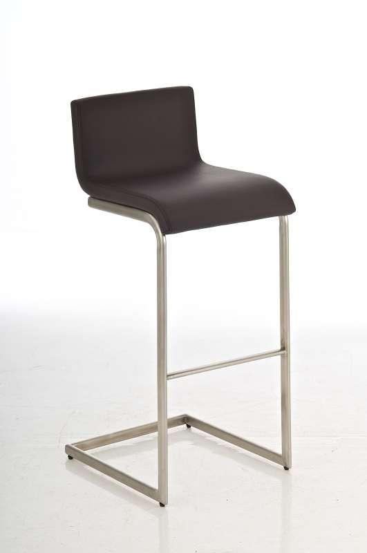 Luxus design barhocker newport edelstahl braun barstuhl for Design barhocker edelstahl