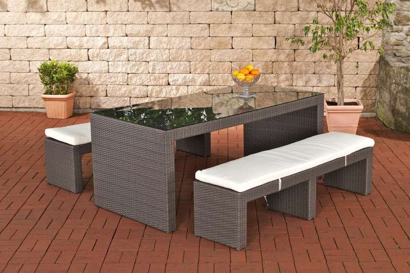 gartenbar coruna grau f1f9 polyrattan gartentheke sitzgruppe gartenm bel neu ebay. Black Bedroom Furniture Sets. Home Design Ideas