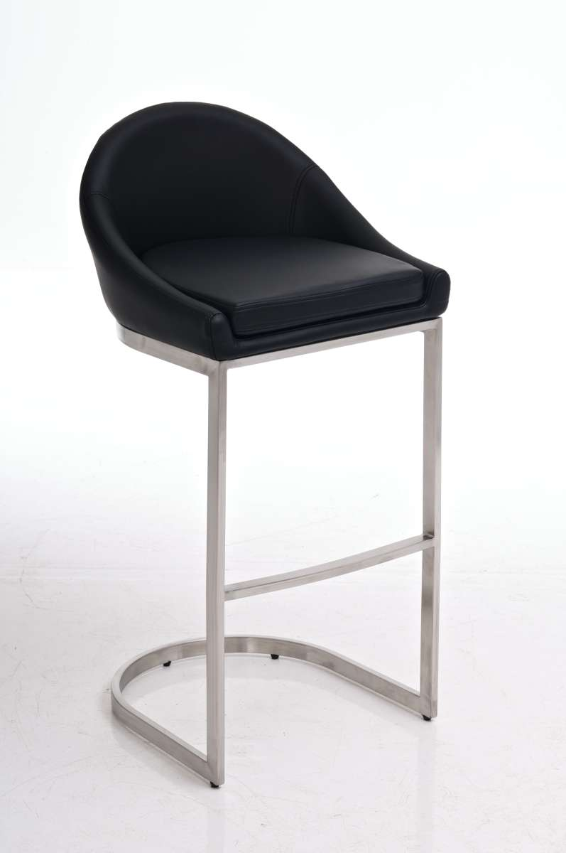Bar Stool Crete Faux Leather Stainless Steel Kitchen Barstools Various Colours Ebay