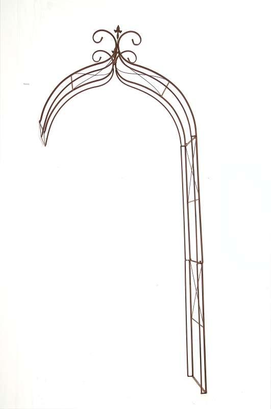 Rosenbogen filippo antik braun rosen rankhilfe metall neu for Wand rosenbogen metall