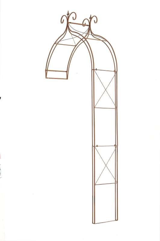 rosenbogen filippo antik braun rosen rankhilfe metall neu spalier wand garten ebay. Black Bedroom Furniture Sets. Home Design Ideas