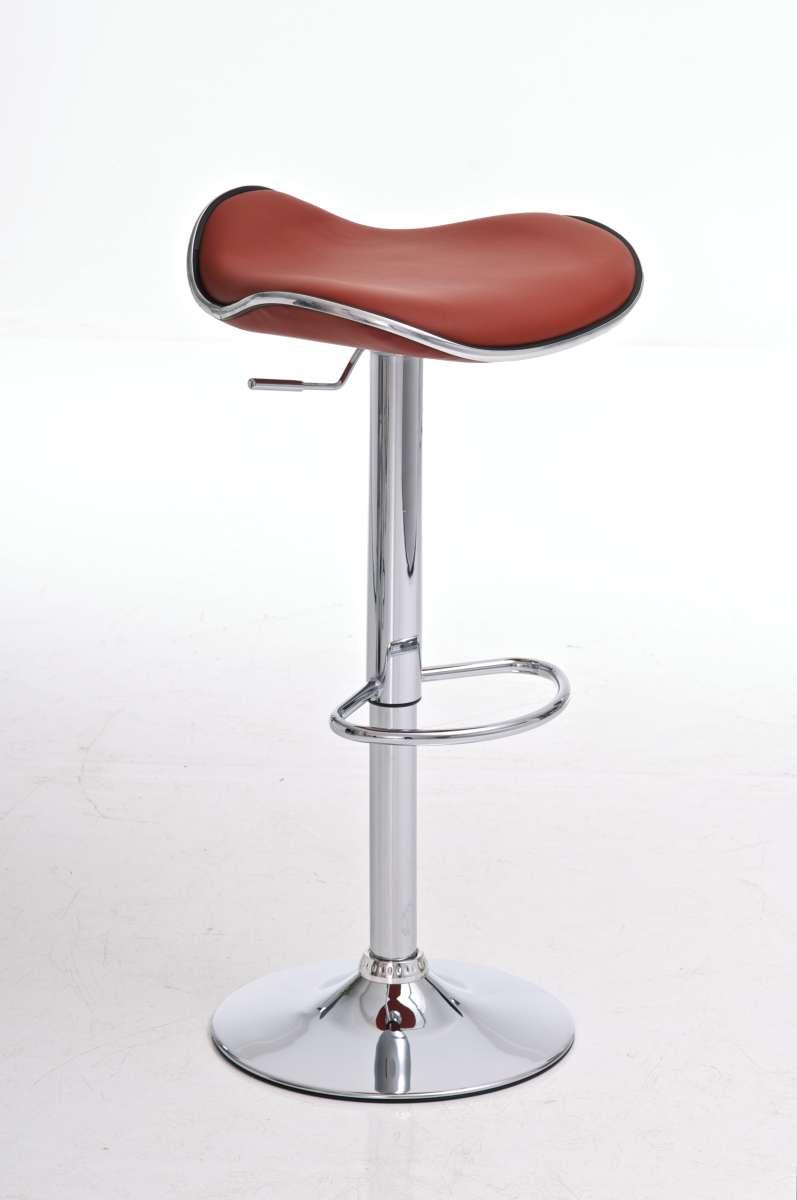 Tabouret de bar shanghai simili cuir chrome fauteuil chaise couleurs diverses - Tabouret de bar couleur aubergine ...