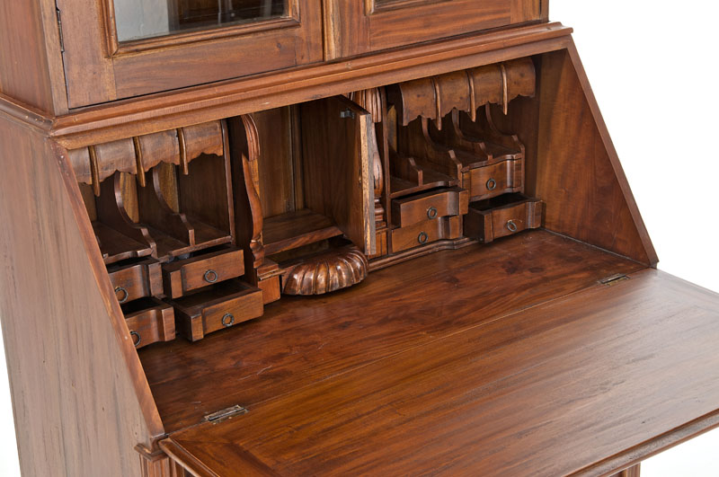 sekret r thomsen rustic kolonialstil schreibtisch edel massiv mahagoni neu ebay. Black Bedroom Furniture Sets. Home Design Ideas