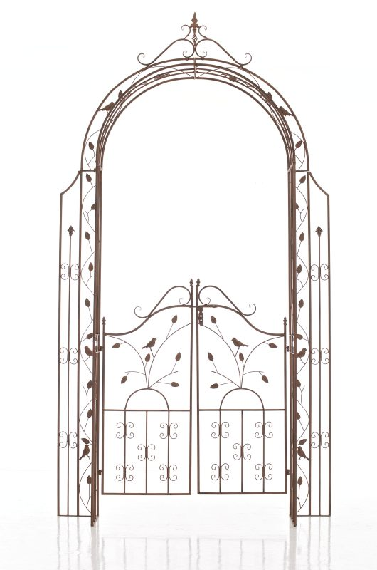rosenbogen grenada antik braun neu metall rankhilfe pergola spaliere ebay. Black Bedroom Furniture Sets. Home Design Ideas