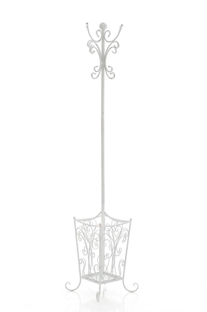 Kleiderständer Weiß Metall garderobenständer lola antik weiss metall kleiderständer garderobe