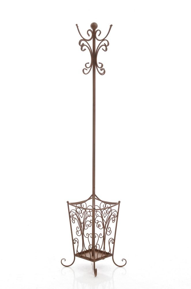 61 garderobenst nder lola antik braun metall. Black Bedroom Furniture Sets. Home Design Ideas
