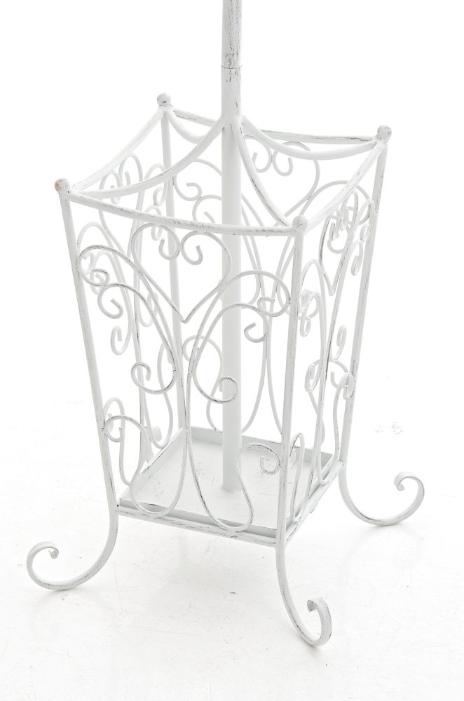 garderobenst nder lola antik weiss metall kleiderst nder. Black Bedroom Furniture Sets. Home Design Ideas