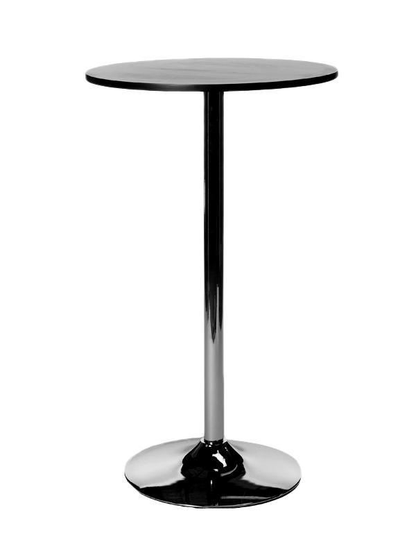 Table Haute Ronde Ø 60 Cm Plateau Bois Aluminium Mange