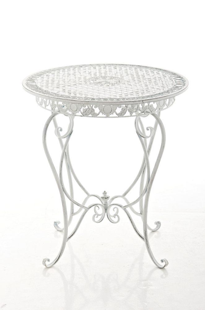 Beistelltisch Rund Weiß Klein :  zu Tisch Liviana antik weiss Gartentisch Beistelltisch Metalltisch NEU