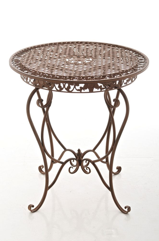 tisch liviana antik braun gartentisch beistelltisch. Black Bedroom Furniture Sets. Home Design Ideas