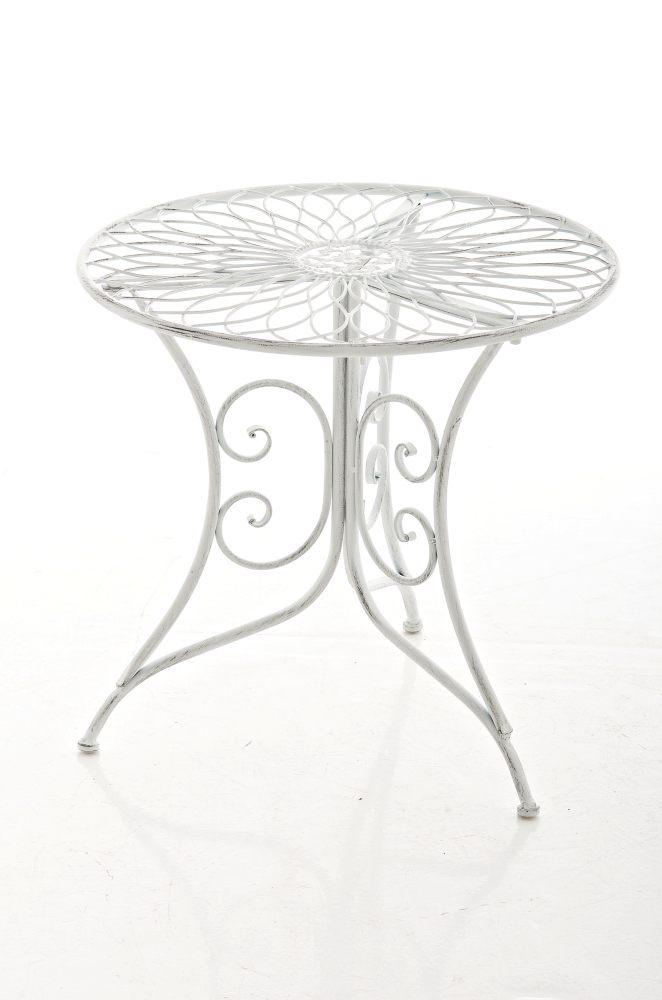 Tisch ariano antik weiss gartentisch beistelltisch for Metalltisch rund