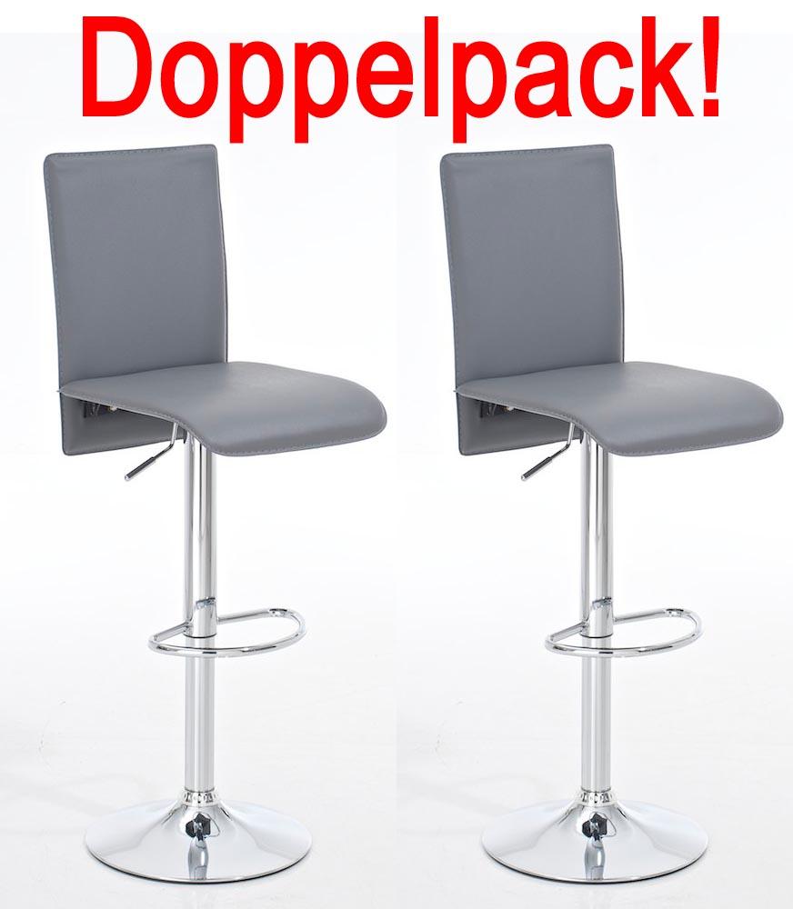 doppelpack barhocker madrid grau design barstuhl. Black Bedroom Furniture Sets. Home Design Ideas