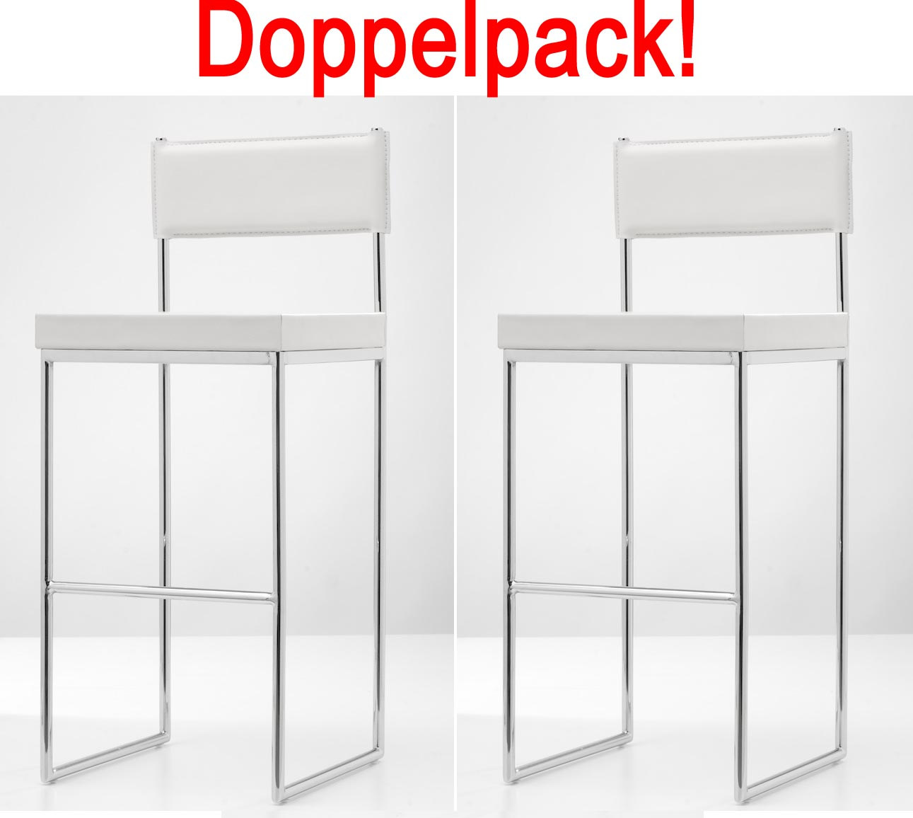 Doppelpack barhocker dallas wei design barstuhl for Design barstuhl