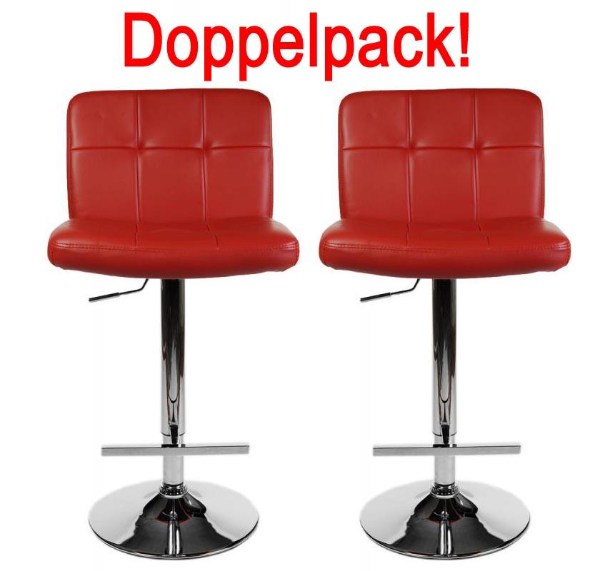 Doppelpack barhocker lissabon rot design barstuhl for Barhocker hamburg
