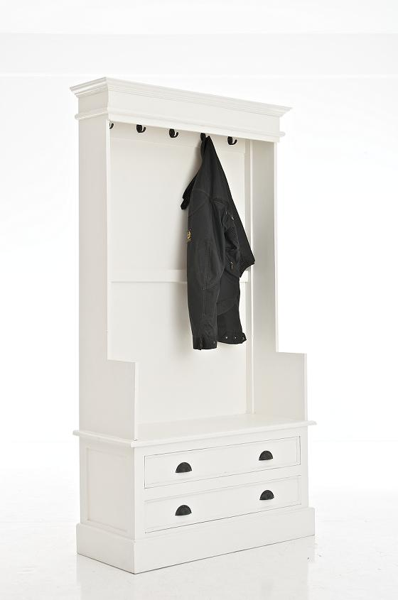 garderobe sandra wei kleiderhaken garderobenhaken regal shabby chic landhaus ebay. Black Bedroom Furniture Sets. Home Design Ideas