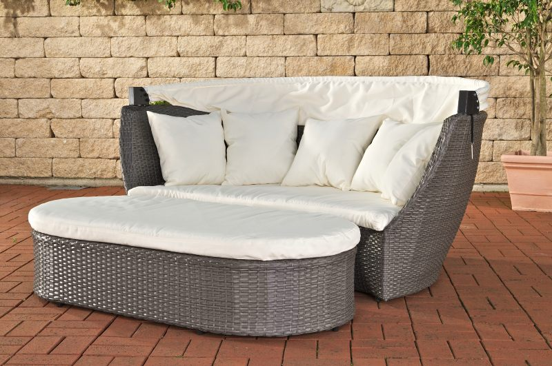 sl sonnenliege rivoli grau gartenliege liege ausstellungsst ck ohne dach. Black Bedroom Furniture Sets. Home Design Ideas