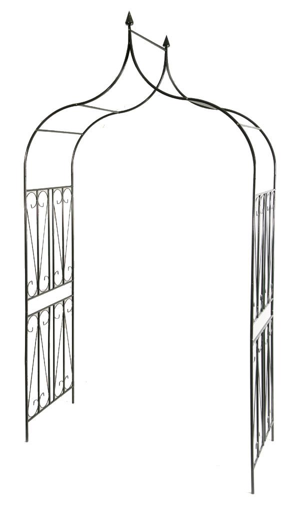 gro er rosenbogen neu rankhilfe verziert eisen pergola. Black Bedroom Furniture Sets. Home Design Ideas
