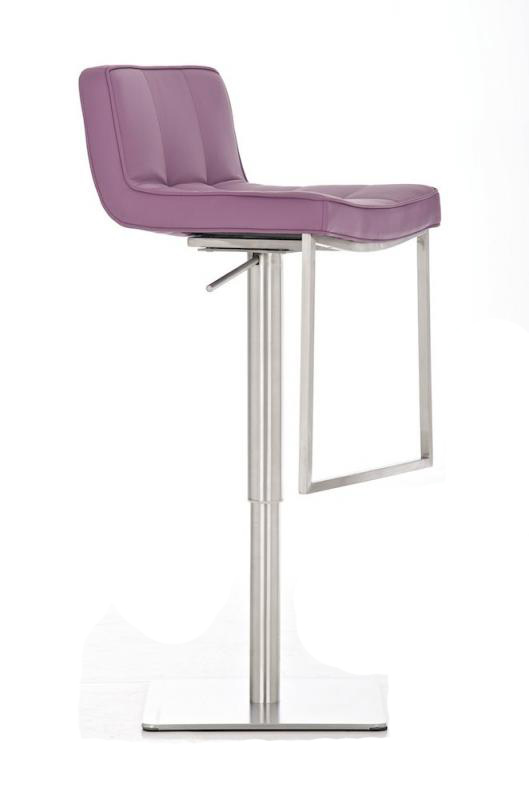 Bar Stool Seoul Faux Leather Stainless Steel Kitchen Barstools Design Seat New
