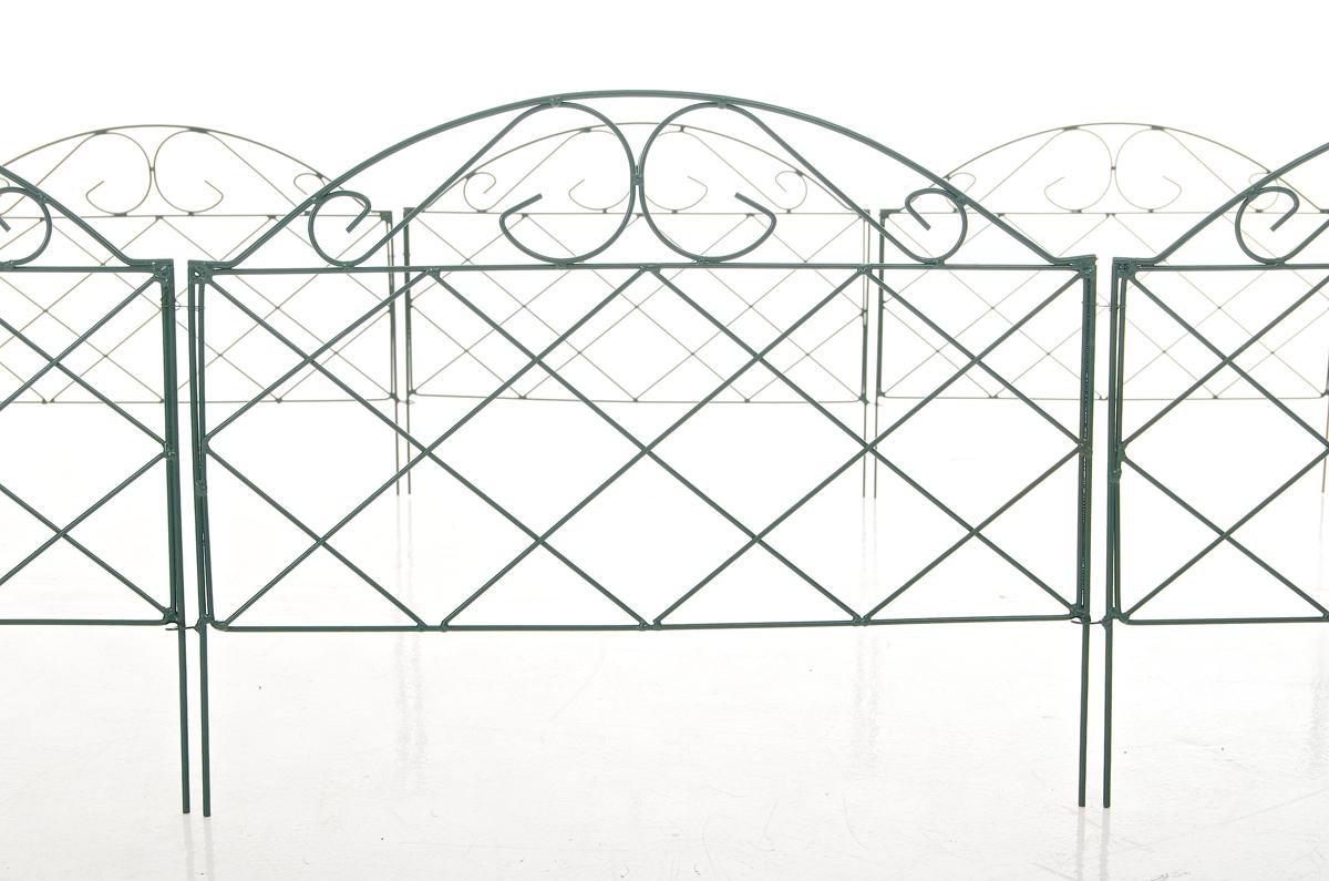 beetzaun letto gr n metall beeteinfassung ziergitter. Black Bedroom Furniture Sets. Home Design Ideas