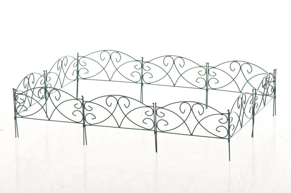 beetzaun aversa gr n metall steckzaun kanteneinfassung. Black Bedroom Furniture Sets. Home Design Ideas