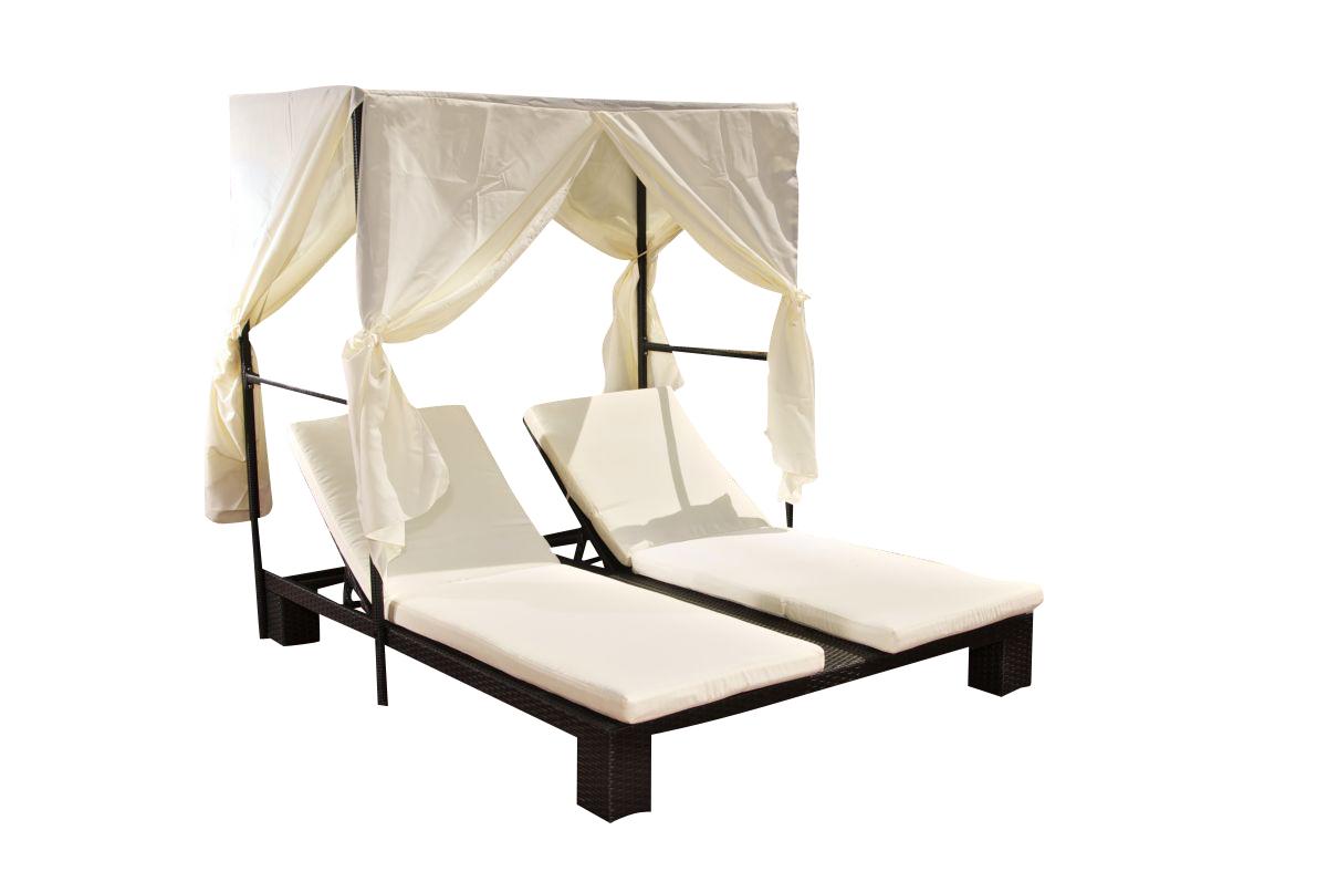 lia doppelliege polyrattan mit sonnenschutz garten liege. Black Bedroom Furniture Sets. Home Design Ideas
