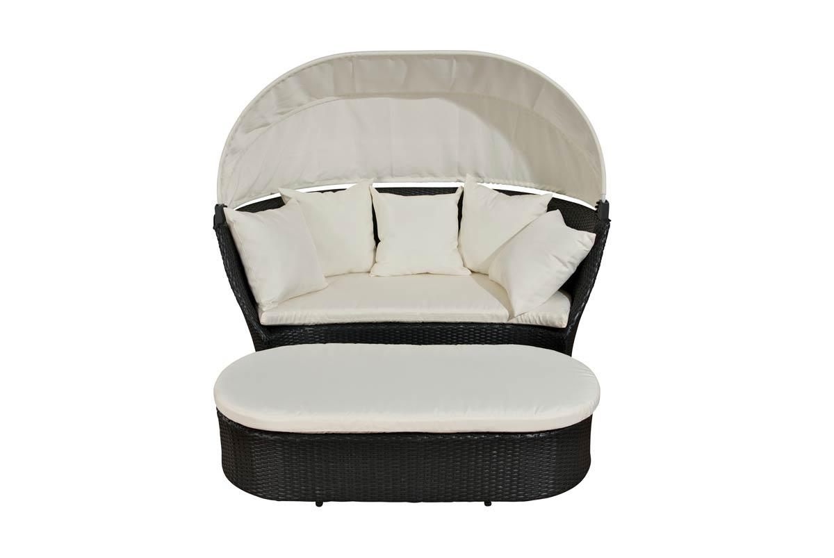 sonnenliege rivoli polyratten garten liege loungebett ebay. Black Bedroom Furniture Sets. Home Design Ideas