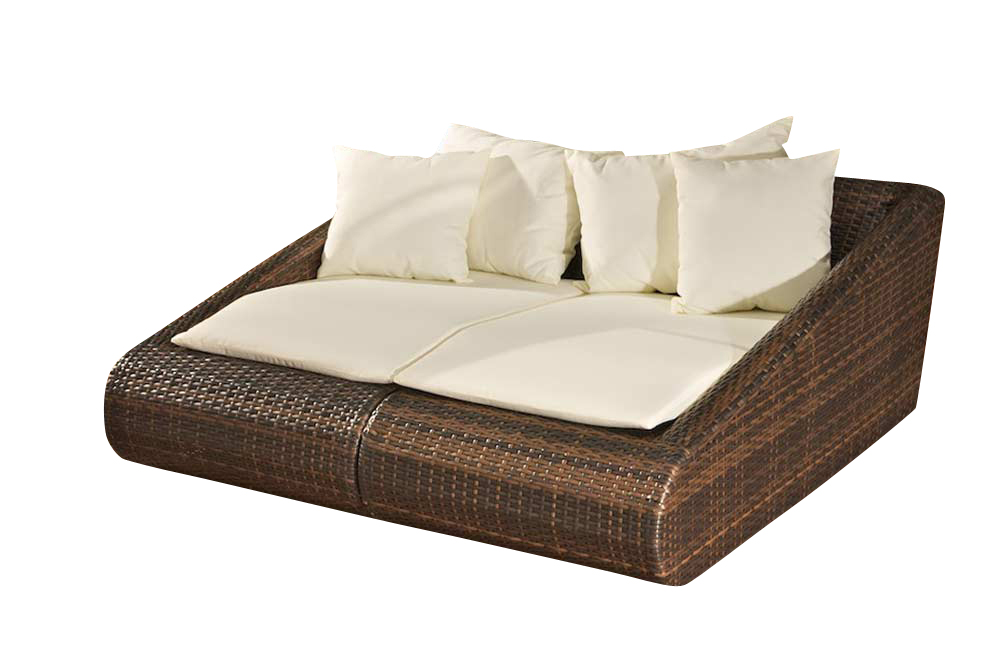loungebett malta polyrattan sonnenliege rattan garten liege neu ebay. Black Bedroom Furniture Sets. Home Design Ideas