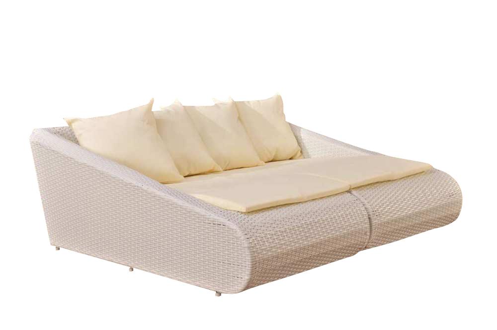 loungebett malta polyrattan sonnenliege rattan garten. Black Bedroom Furniture Sets. Home Design Ideas