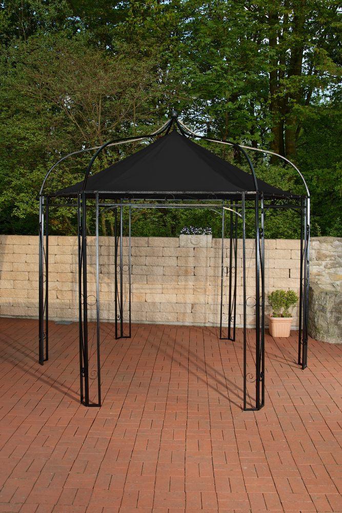 pavillion dudley schwarz neu garten party metall zelt inkl wasserdichtem dach ebay. Black Bedroom Furniture Sets. Home Design Ideas
