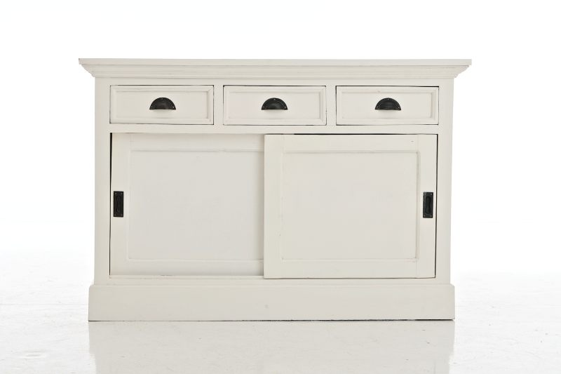 sideboard alina in wei anrichte kommode aufbewahrung shabby landhaus neu ebay. Black Bedroom Furniture Sets. Home Design Ideas