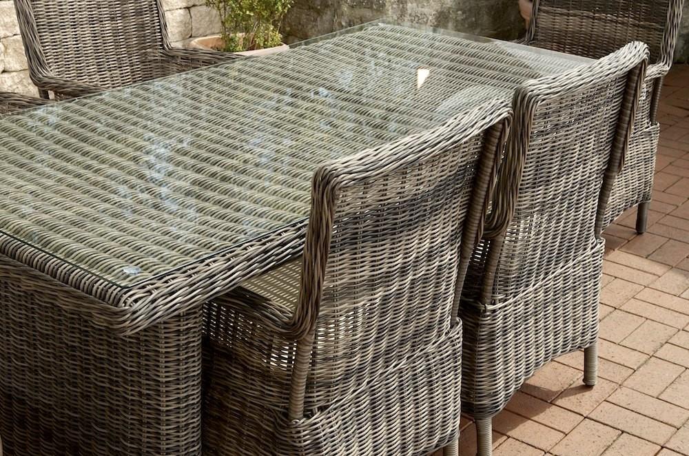 Gartenmobel Holz Klapptisch :  aragona rundes rattan grau meliert essgruppe garnitur polyrattan ebay