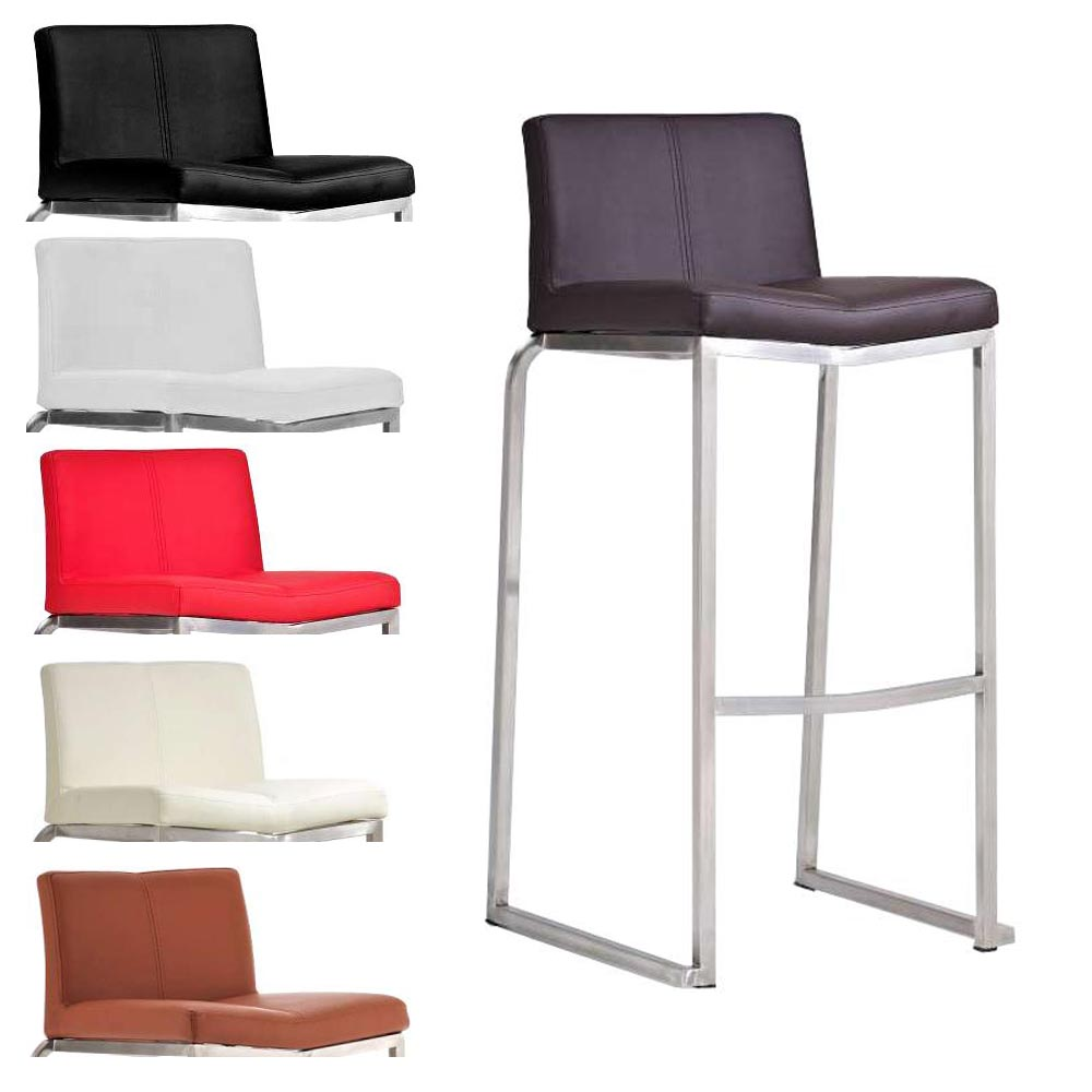 tabouret de bar kansas chaise fauteuil acier inox couleurs diverses neuf ebay. Black Bedroom Furniture Sets. Home Design Ideas