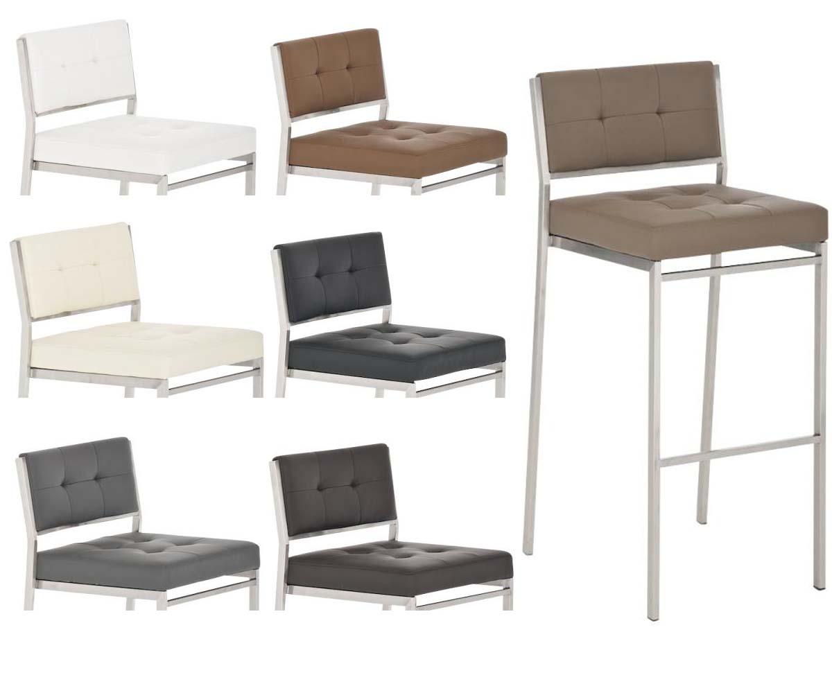 Tabouret de bar aspri acier inoxydable chaise bar cuisine couleurs diverses neuf ebay for Chaise bar couleur