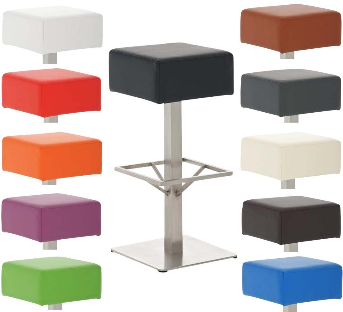 tabouret de bar glasgow acier inoxydable choix couleur bar cuisine chaise neuf ebay. Black Bedroom Furniture Sets. Home Design Ideas