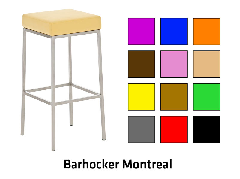 barhocker montreal edelstahl barstuhl tresen hocker stuhl farb und h henauswahl ebay. Black Bedroom Furniture Sets. Home Design Ideas