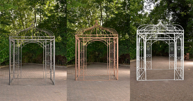 romantischer eisenpavillon manja gazebo rosenspalier eckig pavillion pergola neu ebay. Black Bedroom Furniture Sets. Home Design Ideas