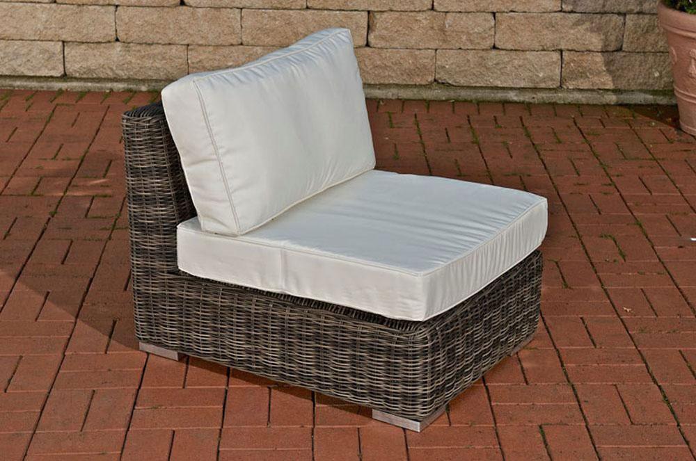 garnitur ariano grau meliert sitzgruppe polyrattan. Black Bedroom Furniture Sets. Home Design Ideas