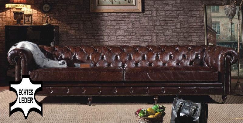 4er sofa kenhelm echtleder chesterfield braun couch ledersofa vintage antik ebay. Black Bedroom Furniture Sets. Home Design Ideas