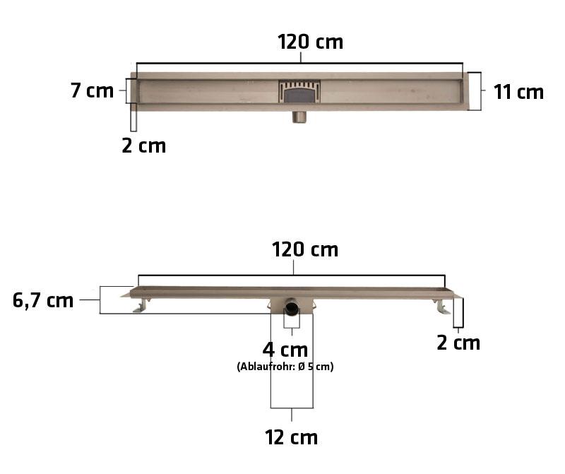 duschrinne mara glas siphon ablaufrinne bodenablauf. Black Bedroom Furniture Sets. Home Design Ideas