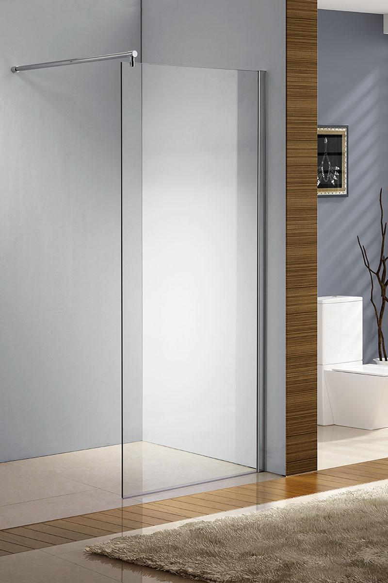 Duschabtrennung glas rund  Duschabtrennung Glas Duschwand Walk In Duschkabine NANO 10mm Klar ...
