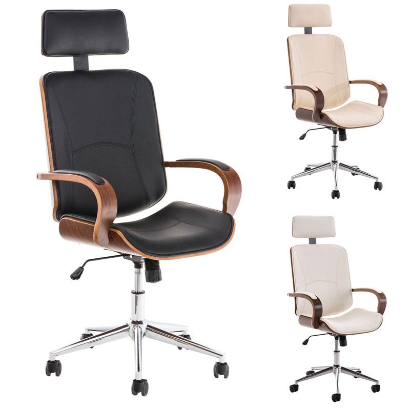 b rostuhl dayton mit armlehne holz chefsessel kunstleder schreibtisch drehstuhl ebay. Black Bedroom Furniture Sets. Home Design Ideas