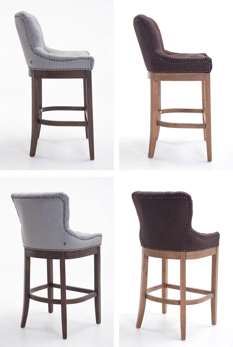 barhocker buckingham stoff barstuhl holz thekenhocker tresenhocker barm bel neu. Black Bedroom Furniture Sets. Home Design Ideas